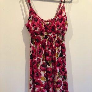 Pink Floral Dress Size L - New w/ Tags